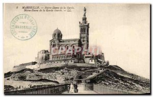 Old Postcard Marseille Our Lady of the Guard Our Lady of the Guard church