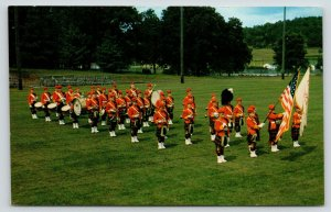 Decorah Iowa~Kilties Marching Band~Field w/ Stands~Cameron Of Erracht Kilt~1960s