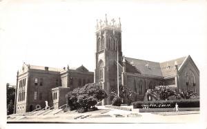 E33/ Vallejo California Ca Postcard Photo RPPCc c30s St Vincents Ferrer's Church
