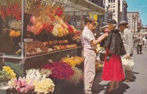 California San Francisco Street Flower Vendor