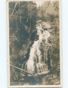 Pre-1920 rppc CRYSTAL CASCADE White Mountains New Hampshire NH i8472