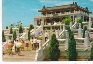 Taiwan The Palace Court and Aquarium Of The Cheng Ching Lake 1973
