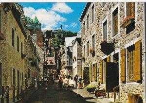 Canada La rue Sous le Fort a la Place Royale Quebec