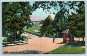 Postcard MD Baltimore Cedar Avenue Bridge in Druid Hill Park c1916 View U01