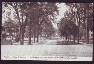 P1552 old unused postcard south street view gorham maine