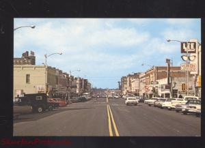 COLUMBIA MISSOURI DOWNTOWN BROADWAY STREET SCENE OLD CARS POSTCARD
