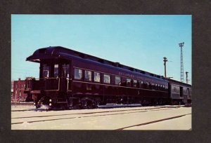NY Delaware & Hudson Railroad Train Pullman Car Colonie New York Postcard