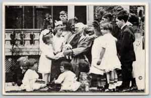 Greenfield IN~Children Gather Around Author~Poet James Whitcomb Riley~1941 B&W