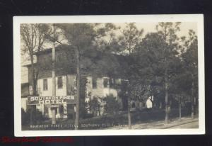 RPPC SOUTHERN PINES NORTH CAROLINA HOTEL VINTAGE REAL PHOTO POSTCARD N.C.