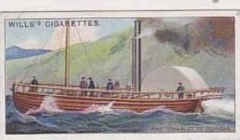 Wills Vintage Cigarette Card Celebrated Ships No 26 The Charlotte Dundas  1911