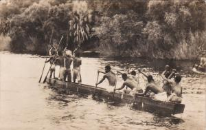 RP: A native canoe on the Zambezi River above VICTORIA FALLS , 00-10s