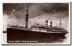 Old Postcard Ship Co. of Brazza reunited chargers