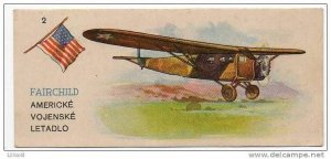 Slovak Trade card - Soap - American Airplane Fairchild - Aeroplane , 10-30s