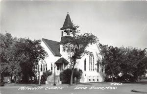 C63/ Deer River Minnesota Mn Real Photo RPPC Postcard c40s Methodist Church