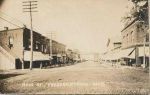 RP: FREDERICKTOWN , Ohio, 1900-10s ; Main Street (dirt)