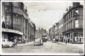 lancs BLACKBURN, King William Street, Bus Car 1956 RPPC