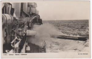 HMS AFRIDI FIRING TORPEDO - BRITAIN PREPARED SERIES