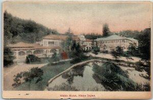Vintage Nikko, JAPAN Postcard NIKKO HOTEL Building View w/ Lake - Unused