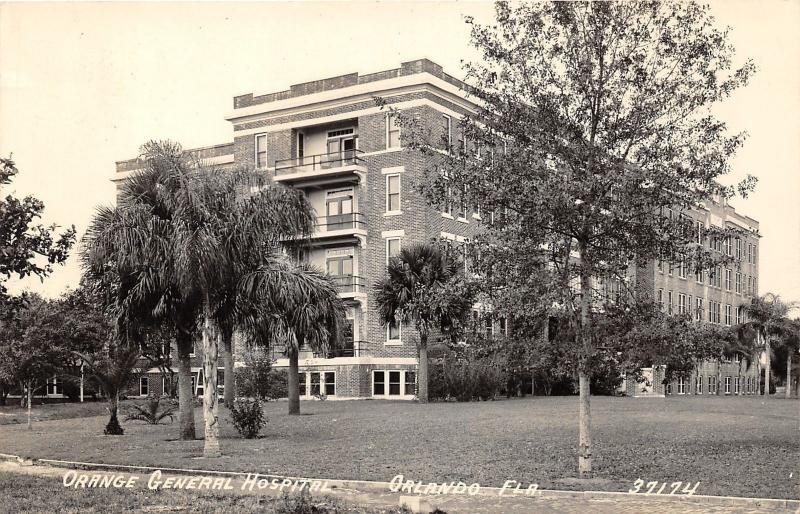 Orlando Florida~Orange General Hospital~1940s Real Photo Postcard-RPPC 37174