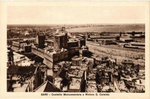 CPA AK BARI Castello Monumentale e Riviera S. Cataldo. ITALY (531562)