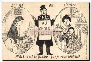 Old Postcard Fantasy Illustrator L & # 39A or & # 39autre But it & # 39est fat