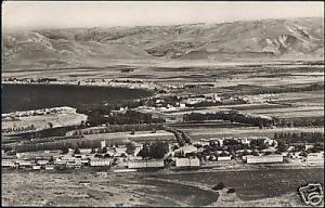 jordan israel, View of the Jordan Valley (1953) RPPC