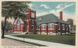 CARLISLE, Pennsylvania, PU-1919; First Church of the Brethren