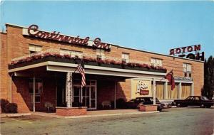 Buffalo New York~Continental Inn & Restaurant~Classic Cars Parked~1950s Postcard