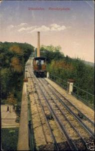 germany, WIESBADEN, Nerobergbahn, Train, Funicular 1919