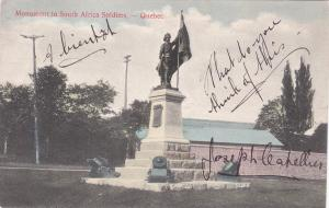 QUEBEC, Canada, 1900-1910´s; Monument to South Africa Soldiers