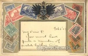 Embossed Germany Stamp on Postcard Postcards  Embossed Germany