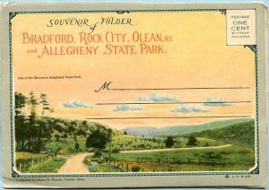 Folder - NY - Bradford, Rock City, Olean & Allegheny State Park.  26 Views + ...