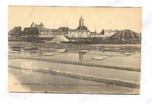 Les Marais Salants, A l'arriere-Plan, Le Chateau Et l'Eglise, Noirmoutier (Ve...