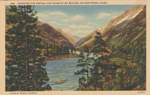 Shooting The Rapids, The River of No Return, Salmon River,  Idaho,  30-40s