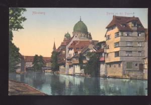 MUNCHEN GERMANY PARTIE EN DER PEGNITZ GERMAN ANTIQUE VINTAGE POSTCARD