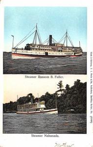 Boothbay Harbor ME Steamers Ransom B. Fuller & The Nahanada Postcard
