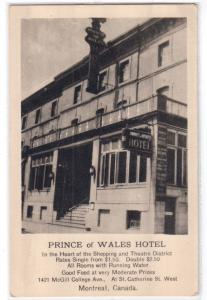 Prince of Wales Hotel, Montreal