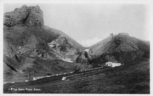Aden Yemen The Main Pass Real Photo Antique Postcard J55535