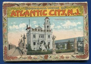 Atlantic City New Jersey nj postcard folder 1910s Youngs Cottage postcard folder