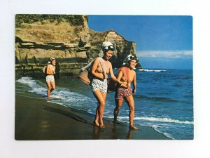 Ama Diving Girl Japan Chiba Prefecture Postcard Nippon Beauty Card Topless Beach