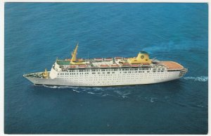 Shipping; Home Lines 'Atlantic' Cruise Liner Advertising PPC, Unposted, c 1970's