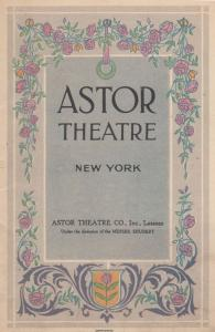 East Is West New York 1919 Comedy Astor Theatre Programme