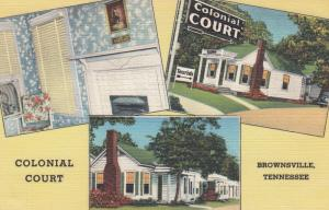 BROWNSVILLE , Tennessee , 1930-40s; Colonial Court, 3-views