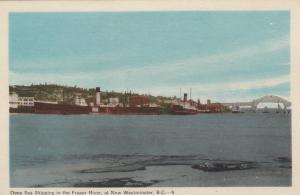 Deep Sea Shipping in the Fraser River, NEW WESTMINSTER , B.C. , Canada , 30-40s