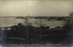 finland suomi, HELSINGFORS HELSINKI, Sveaborg Suomenlinna (1920s) RPPC