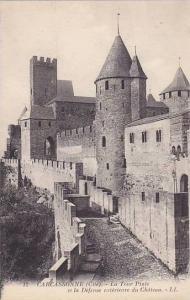 La Tour Pinte Et La Defense Exterieure Du Chateau, Carcassonne (Aude), France...