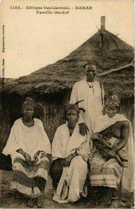 CPA AK Fortier 1182 Dakar- Famille Ouolof SENEGAL (812078)
