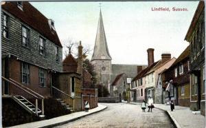 LINDFIELD, SUSSEX, United Kingdom  STREET SCENE c1910s   Postcard