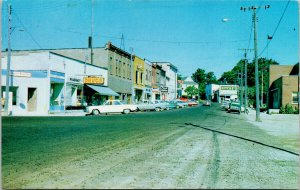Water Street Little Current Manitoulin Island Ontario Ritche's 1972 Postcard F57