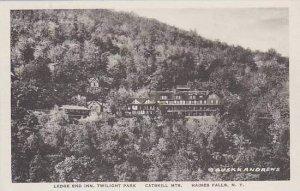 New York Haines Falls Ledge End Inn Albertype